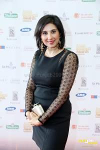 BBC Midlands Today presenter Shefali Oza arrives at Asian Business Awards, Midlands