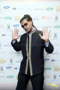 Legendary raggamuffin star Apache Indian arrives at Asian Business Awards, Midlands