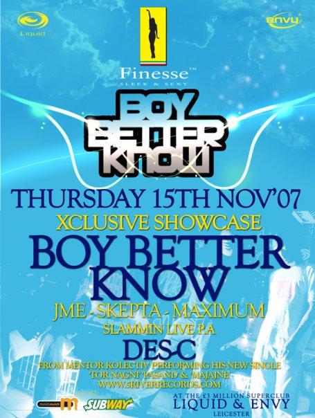 Finesse presents Boy Better Know & Des C