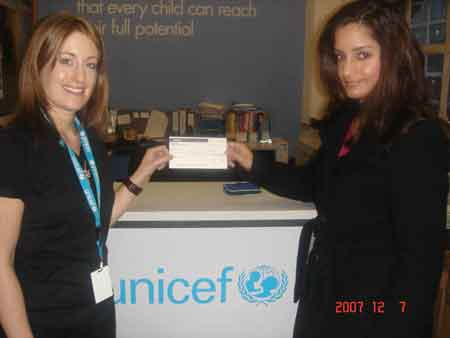 Ruth Payant of UNICEF and RCA General Secretary Megha Kumar.)