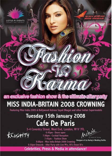 Miss India-Britain 2008 Crowning & 'Fashion Vs Karma' Fashion Show