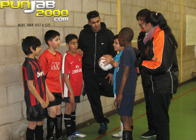 Jaz Dhami helps local community to support FA's Get Into Football campaign