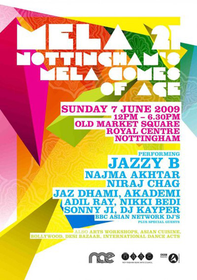 From dancing Gods to Bhangra-folk beats, Nottingham Mela is back with a bang this year, showcasing the very best of Bollywood, Bhangra, Dance, Pop, R'n'B, Qawwali and Fusion, as we mark 21 years of Mela in the UK. Celebrations are all the more special this year, as we bring it back to where it all began, as Nottingham Mela comes of age!