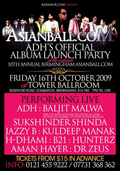 ADH's Official Album Launch Party @ the 10th Annual Birmingham Asianball.com