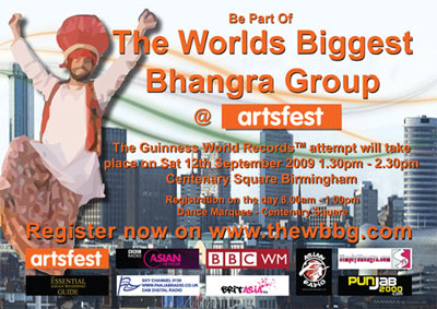 Get involved and be part of The Worlds Biggest Bhangra Group!