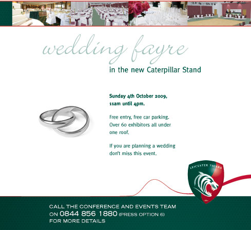 The Wedding Fayre @ Leicester Tigers