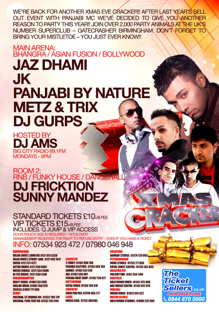 XMAS CRACKER XMAS EVE at GATECRASHER BIRMINGHAM