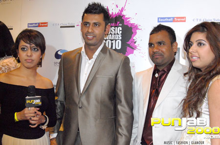 Billan sisters interview with Aman Hayer & Angrez Ali Backstage @ the Brit Asia TV 2010 Awards