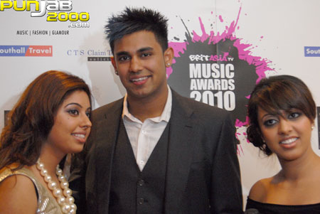 Billan sisters interview with Jaz Dhami Backstage@ the Brit Asia TV 2010 awards