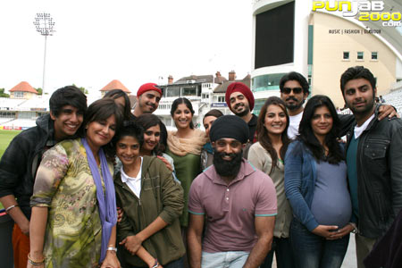 Tony Bains interview with The Patiala House family on the set of Patiala House.