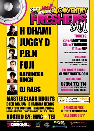 THE OFFICIAL FRESHERS JAM FOR COVENTRY AND WARWICK UNIVERSITY STUDENTS