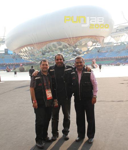 The wizards of Wizcraft- Andre Timmins, Viraf Sarkari and Sabbas Joseph at JLN Stadium