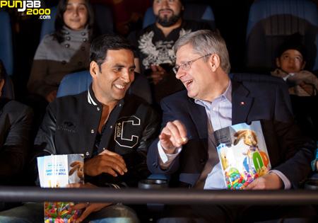 Akshay Kumar with Stephen Harper, Canadian Prime Minister