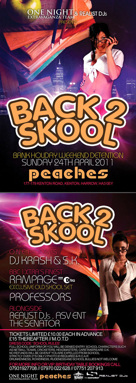One Night Extravaganza Team Present Back To Skool Party