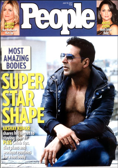 People Magazine honours Bollywood fitness icon, Akshay Kumar, with title of 'Fittest Body'
