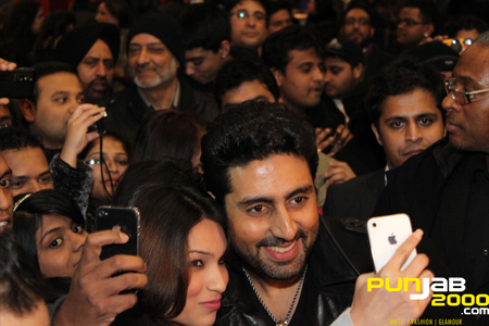LONDON COMES OUT IN FORCE TO WELCOME ABHISHEK BACHCHAN TO LAUNCH the 1st Bollywood film of 2012 'PLAYERS – Go For Gold' worldwide.