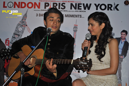 It was a star-studded occasion as Indian cinema's latest acting sensations Ali Zafar and Aditi Rao Hydari, together with debutante director Anu Menon, launched the official music soundtrack from the highly anticipated new Twentieth Century Fox and Rose Productions' romantic comedy 'London Paris New York' in the capital of India – New Delhi. London Paris New York will release in cinemas on 2nd March 2012.