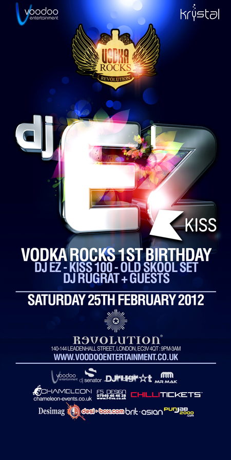 Vodka Rocks 1st Birthday – Dj Ez Old Skool Set - Sat 25th February