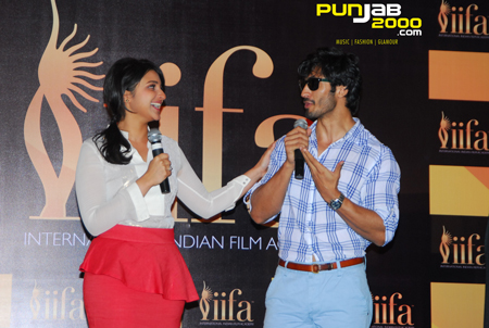 Parineeti Chopra & Vidyut Jamwal placeing their votes at the 13th International Indian Film Academy celebrations kick-start with the IIFA Voting Weekend 2012