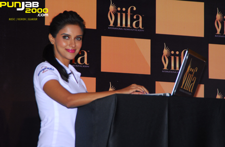 Asin Thottumkal places her votes at the 13th International Indian Film Academy celebrations kick-start with the IIFA Voting Weekend 2012