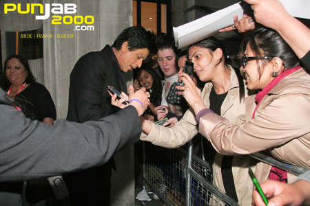 Shah Rukh Khan arriving for his BBC Asian Network Show