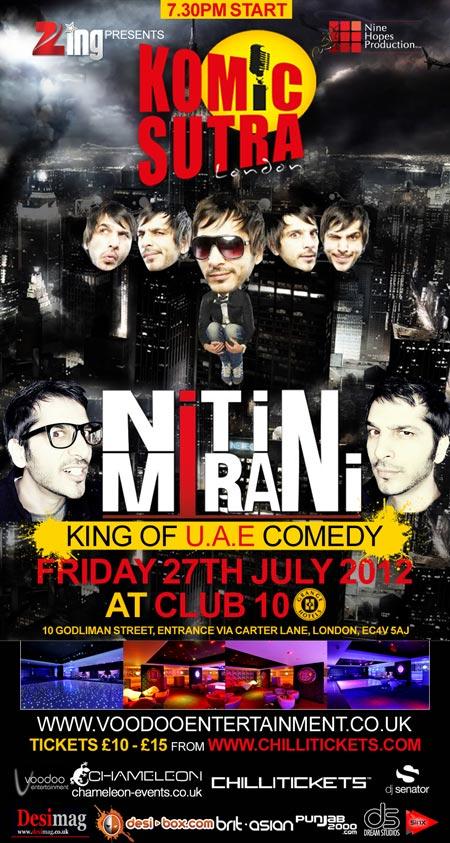 Komic Sutra Presents - Nitin Mirani Comedy Show