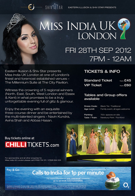 Miss India UK London - Extravaganza of beauty, grace, glamour and fashion as never been seen before!