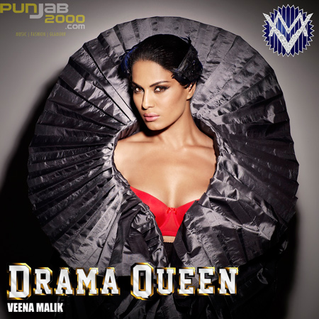 VEENA MALIK RELEASE HER FIRST LOOK FOR HER SINGLE DRAMA QUEEN