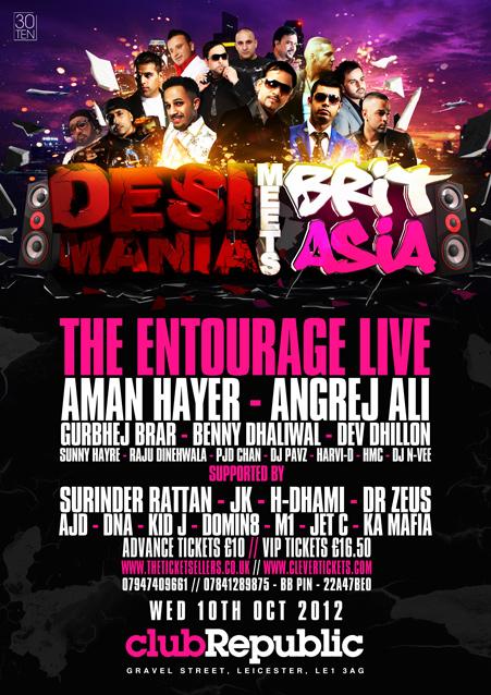 DESI MANIA meets BRIT ASIA UNI TOUR - WEDS 10TH OCTOBER - CLUB REPUBLIC LEICESTER