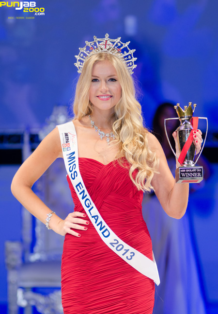 KIRSTY HESLEWOOD MISS NORTH LONDON WINS THE MISS ENGLAND 2013