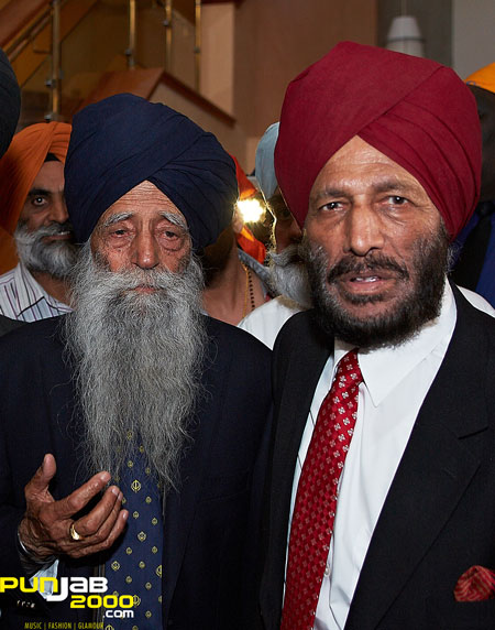 London's Fauja Singh Meets India's Milkha Singh in Southall