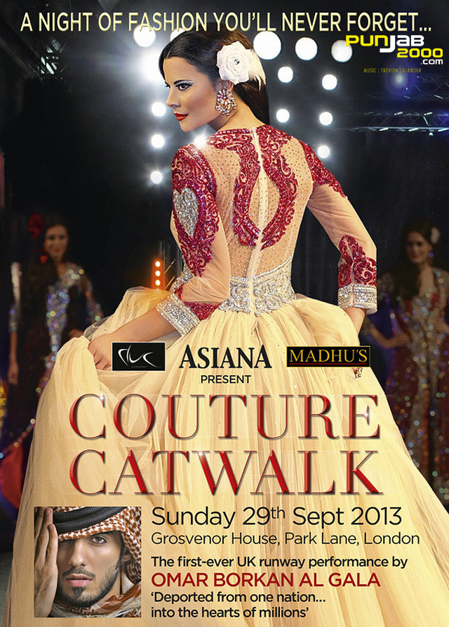Asiana Couture Catwalk - 29/9/13. Grosvenor House, London