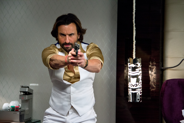 SAIF ALI KHAN TURNS UP THE HEAT IN AND AS BULLETT RAJA