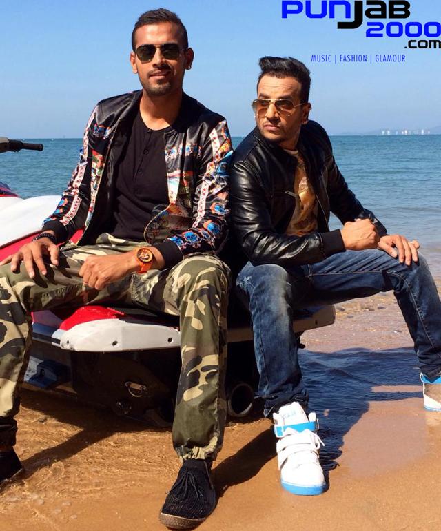 Garry Sandhu & Jazzy B on location for Rambo Ranjha