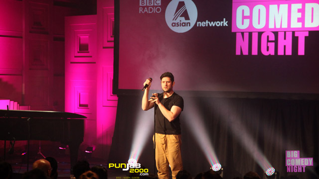 Abdullah Afzal performs at the BBC Asian Network Comedy night