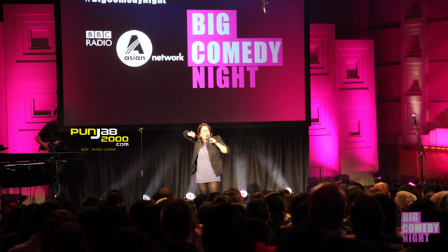 Aditi Mittal performs at the BBC Asian Network comedy night