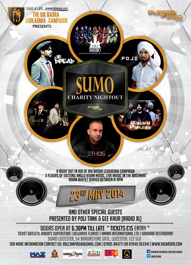 Sumo Charity Nightout Flyer