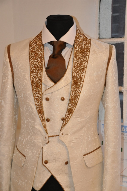 Double-breasted waistcoat set designed by Julien Trivedi*
