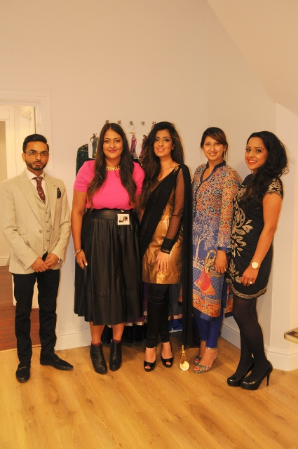 Noreen Khan in the middle with Amrit (left) and business partnet Gaby (right)