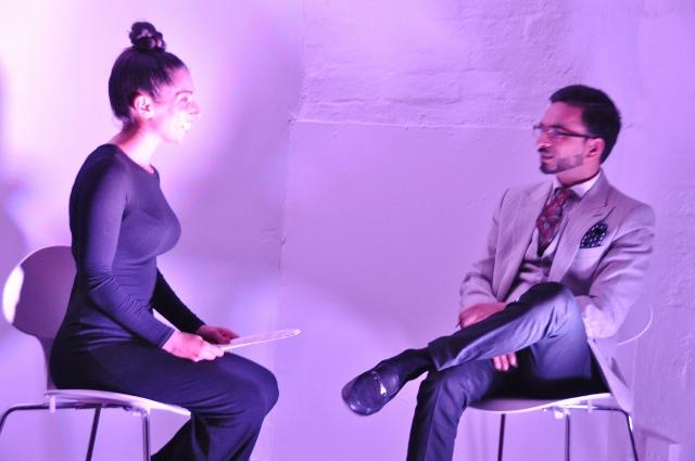Julien Trivedi talking to Chandeep Uppal