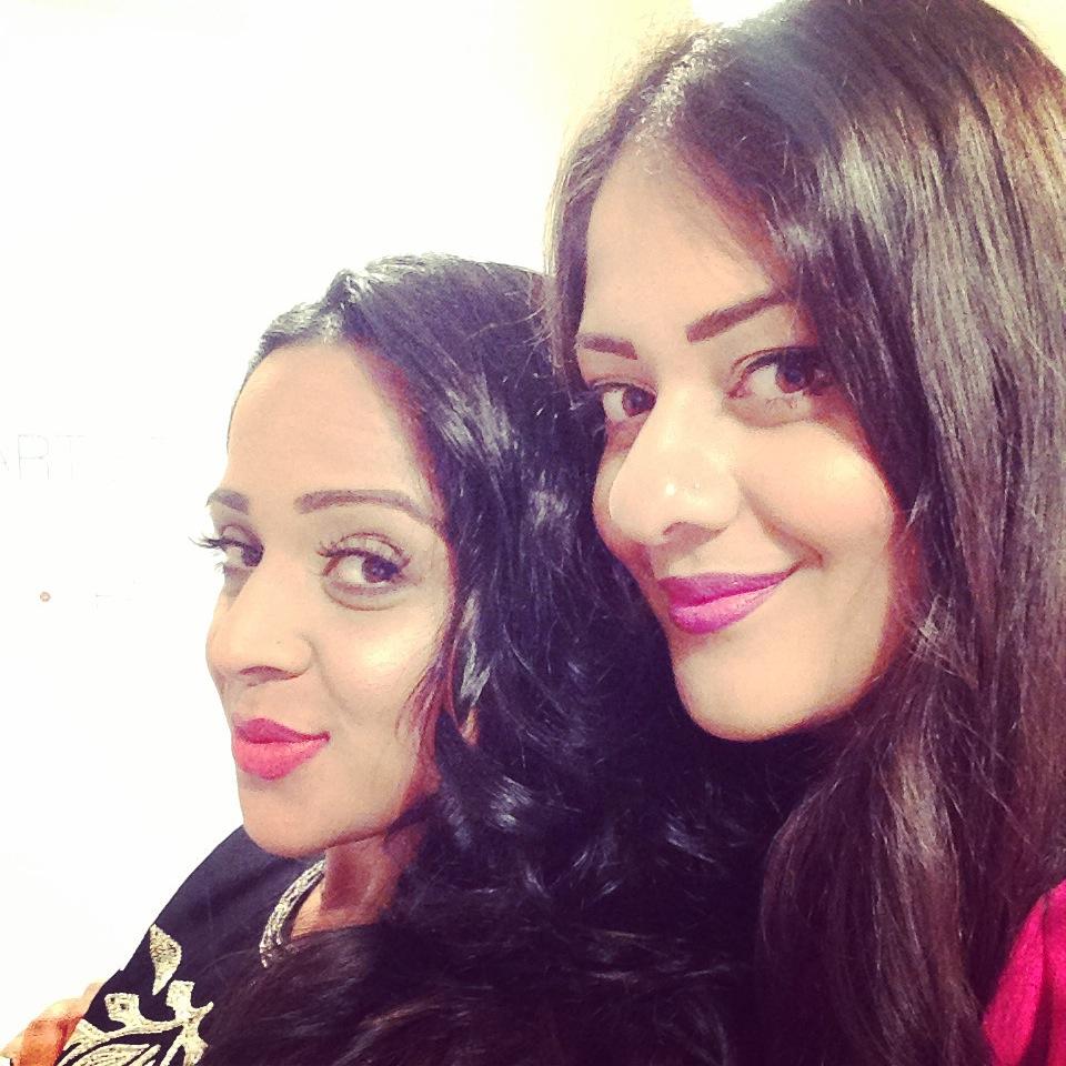Miss Amaretto with make up artiste Ravita Pannu #RPDivas