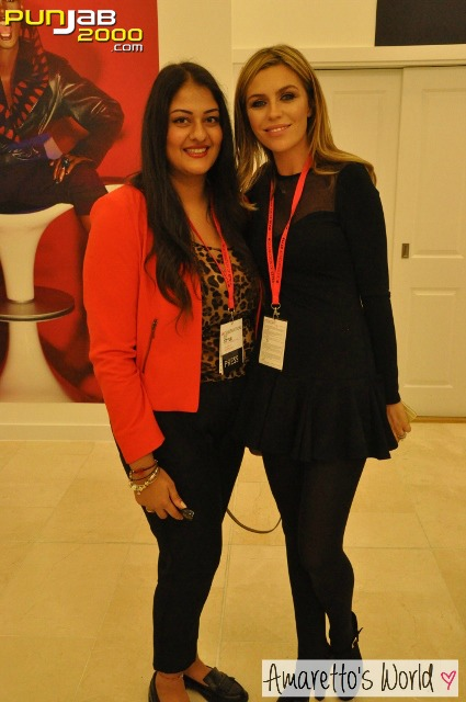 Abbey Clancy told Amrit the black midi dress was her favourite from the collection