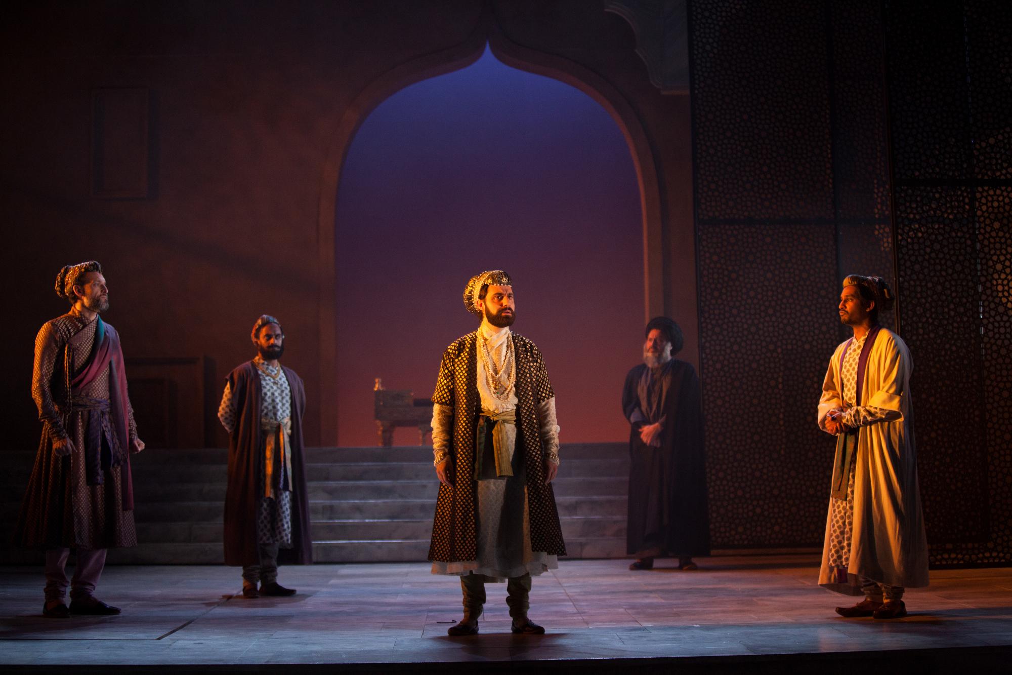 Nicholas Khan (Mir Khalil), Esh Alladi (Gvernor Khan), Sargon Yelda (Aurangzeb), Simon Nagra (Mullah Farooq), Rudi Dharmalingham (Danishmand) by Ellie Kurttz