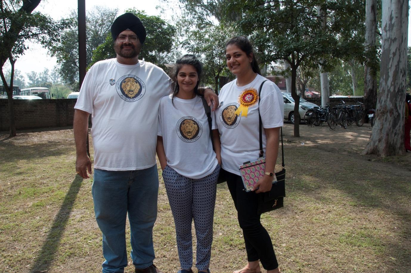 Pummie & Amrit Matharu,co-founders of NPA with volunteer Avneet