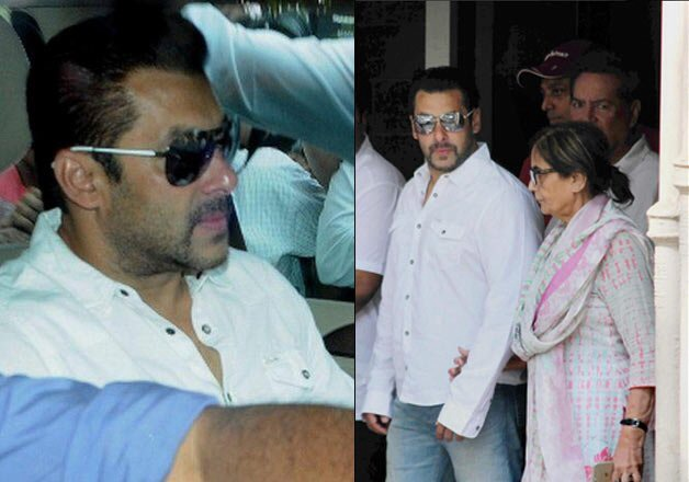 Salman Khan outside court with family