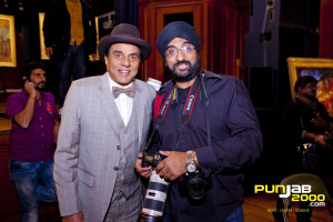 Tejinder with Dharmendra