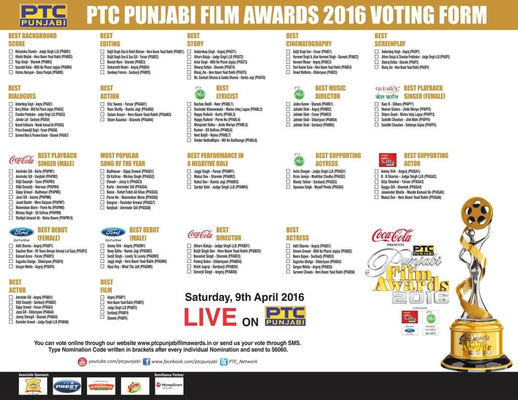 PTC punjabi film awards 2016
