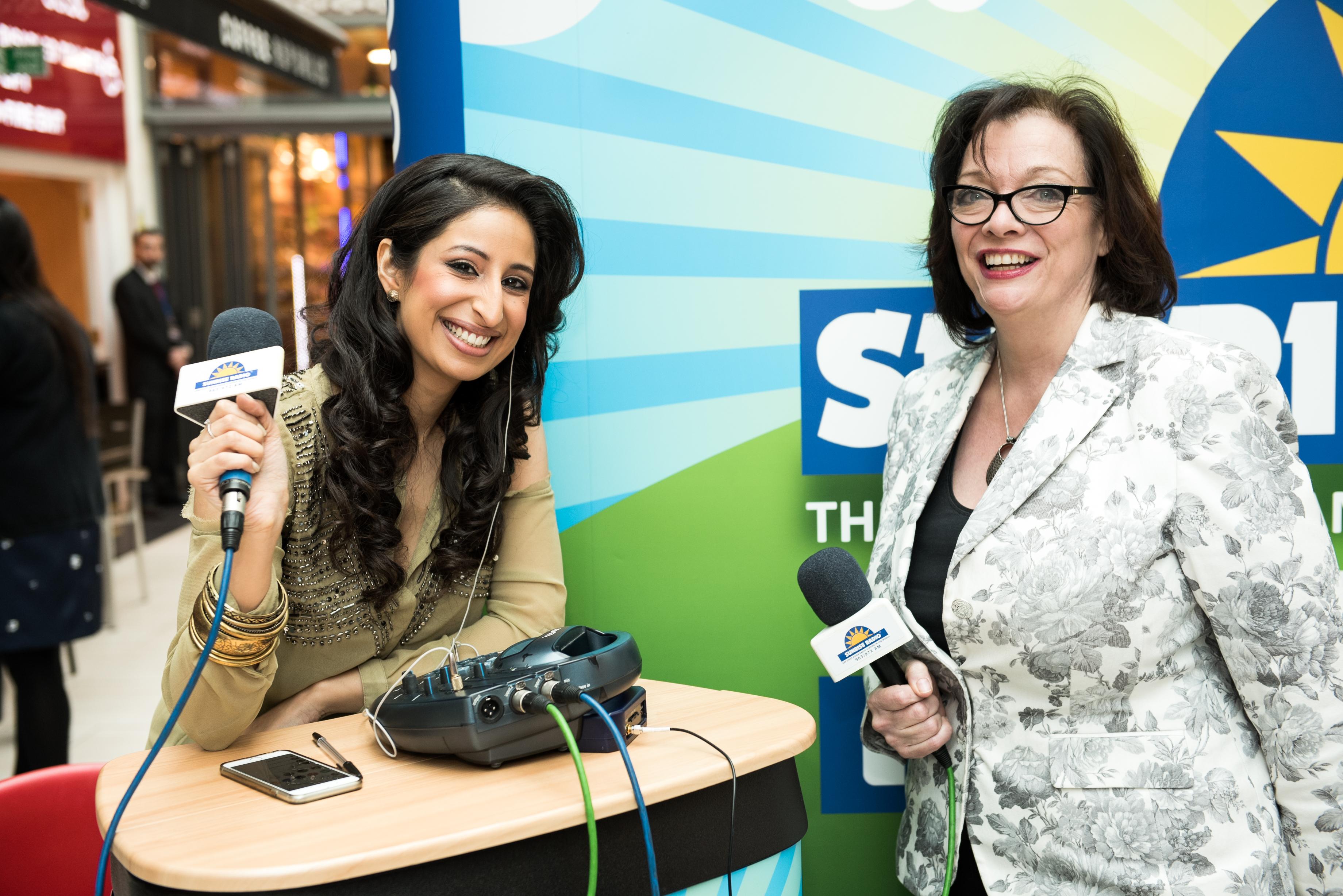 Anushka Arora of Sunrise Radio at East Shopping Centre First Anniversary