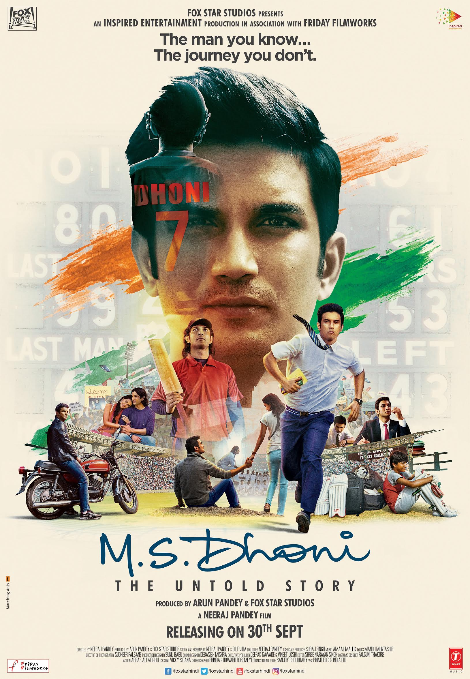 New Poster M.S. Dhoni - The Untold Story