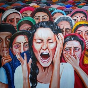 Woman screaming by Kully Rehal